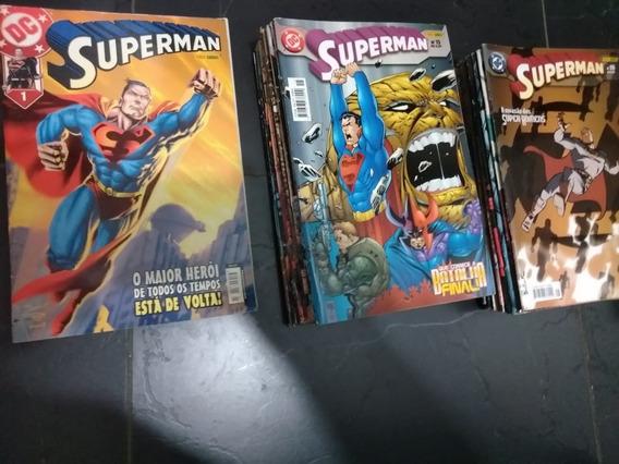 Superman 1ª Série Panini Lote Com 35 Quadrinhos Sem Grampos