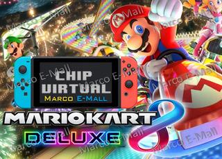Mario Kart 8 Deluxe Para Nintendo Switch + Chip Virtual Cfw