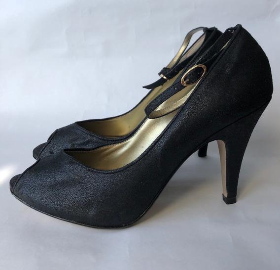 Zapatos De Cuero Graneado Importado Nine West Nro 38 Sin Uso