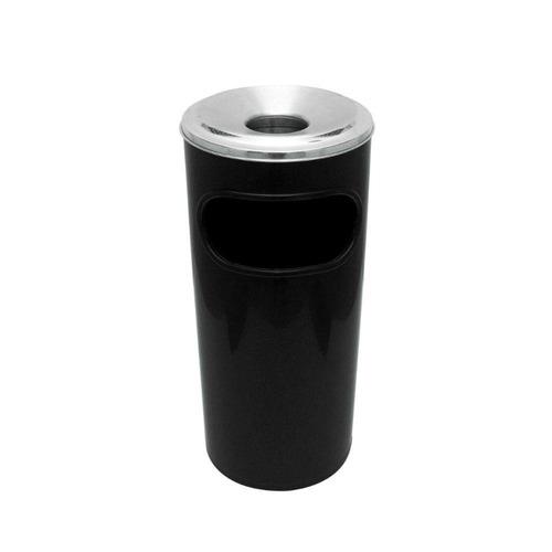 Cinzeiro Lixeira Plástico Preto Jsn