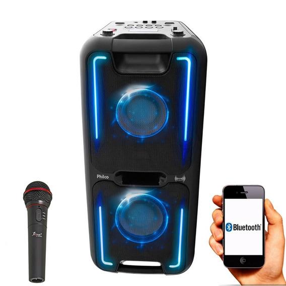 Caixa Som Portátil Bluetooth Recarreg 200w Microfone Philco