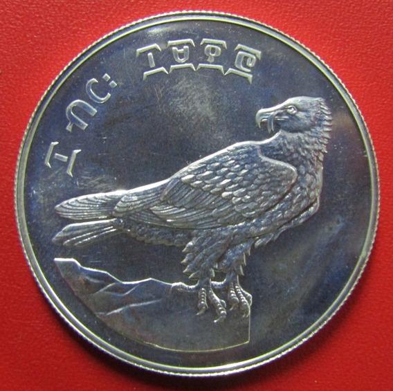 Etiopia Moneda Plata 10 Birr 1977- 78 Proof Ave