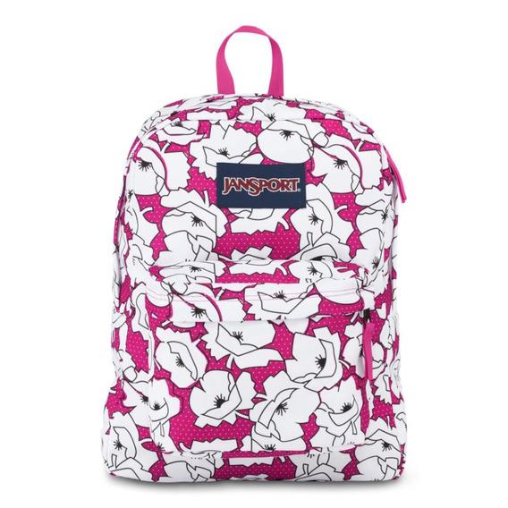 Mochila Jansport 18´ Cyber Pink Block Floral