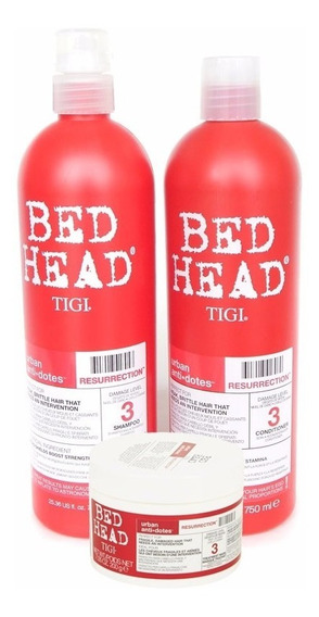 Tigi Bed Head Kit Resurrection Shampoo +enjuague+ Mascara Gr