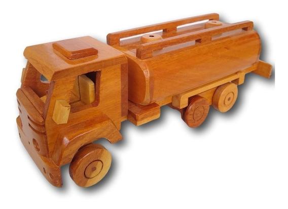 Carrinho Caminhão De Madeira Miniatura Decoração Ref. 0688
