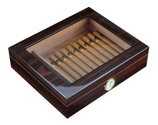 Estuche Humidor De Habanos Nogal Laqueado 20 Cigarros
