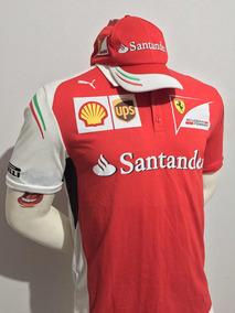 Kit Ferrari Santander Camisa Polo + Bone