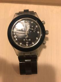 Relógio Swatch Irony Diaphane Preto