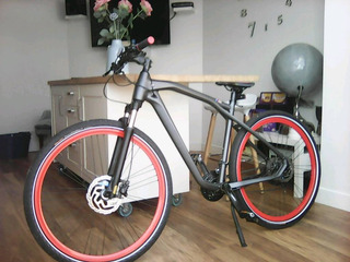 Bicicleta Nueva Genuine Bmw Cruise M Bike Gris Mate/rojo