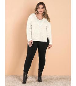 1edf954fe4 Blusa Tricot Feminina Off White - Calçados