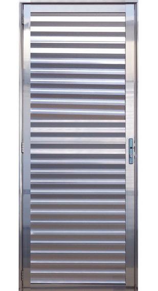 Porta Palheta De Alumínio Brilhante 2,10 X 0,70 Direita