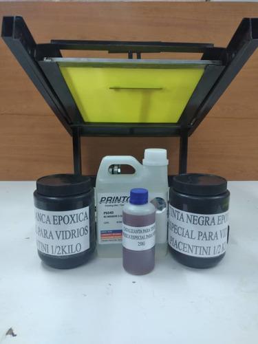 Máquina Para Serigrafia Cilindrica Más Kit De Tinta
