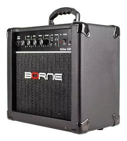 Amplificador Cubo Para Guitarra Borne G30 Preto C/ Distorção