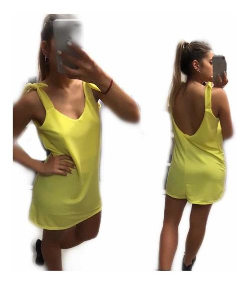 Vestido Corto Con Escote Espalda - De Día O De Noche -ss19