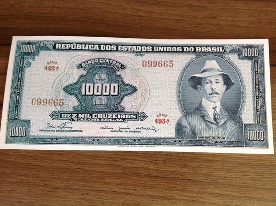 L-1795b - C-060 - 1 Rara Cédula Cr$ 10.000,00 1966 Réplicas