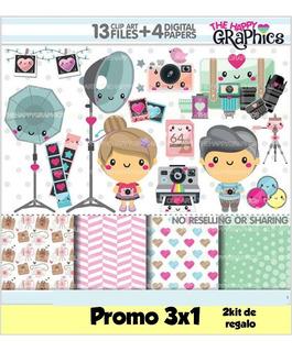 Kit Imprimible 3x1 Fotografía Fotrografo Imagen Fondos #138