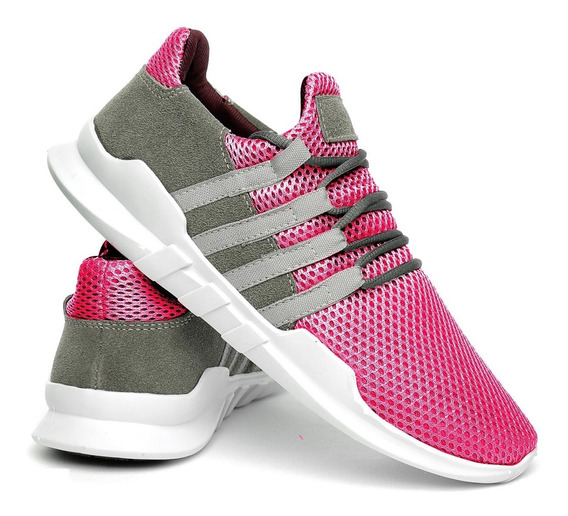 Tênis Esportivo Unissex Caminhada Academia Rosa + 5 Cores
