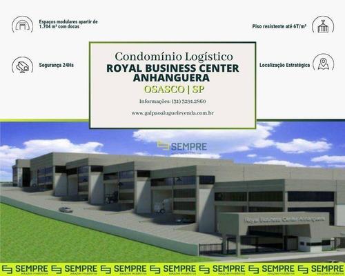 Imagem 1 de 14 de Galpão Para Alugar, 1704 M² Por R$ 37.502,96/mês - Industrial Anhangüera - Osasco/sp - Ga0972