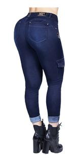 Linda Calça Cropped Cargo Militar, Pit Bull Jeans