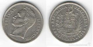 2 Monedas Venezolana De Níquel, (fuera De Circulación).