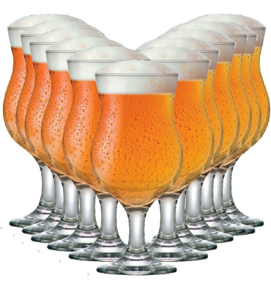 Jogo Taça De Cerveja Copo Cerveja Vidro Panamá 375ml C/ 12