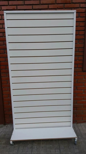 Exhibidor Comercial  Panel Ranurado Nuevo 1.83x86 Cm