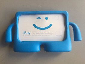 Capa Case Criança Kids Galaxy Tab 3 4 7 Polegadas Azul