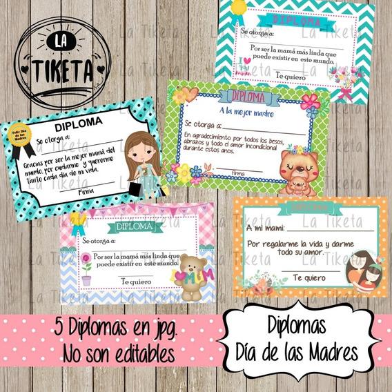 Diplomas Y Tarjetas Digitales Día De Las Madres, 10 De Mayo