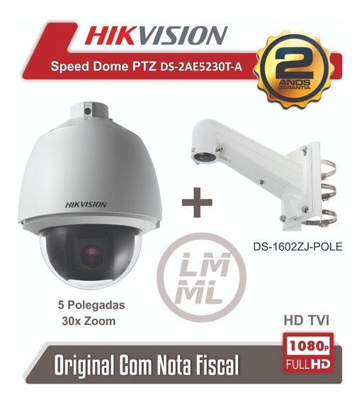Speed Dome Hikvision 1080p 30x Full Hd Ds-2ae5230t-a- Bahia