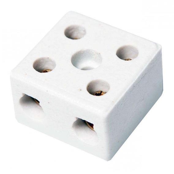 Kit C/ 10 Conector Porcelana Medio 10mm 2 Polos Interneed