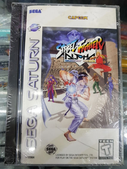 Street Fighter Alpha Sega Saturn Original Lacrado