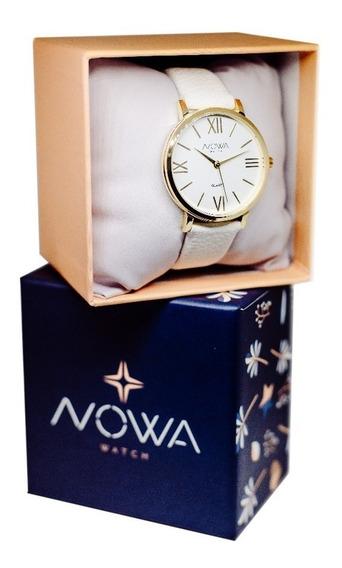 Relógio Feminino Dourado Nowa Nw1405k Original Luxo Barato