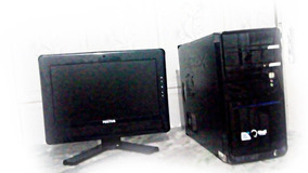 Pc Com Monitor Dual Core 2.7ghz 100%