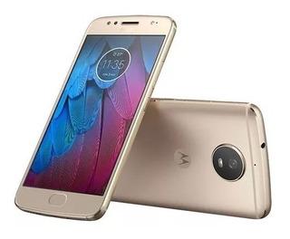 Celular Motorola Moto G5s Ouro 32gb Octa 16mp Xt1792 Vitrine
