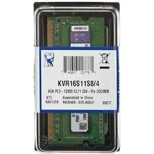 Memória P/ Apple Macbook, Mac Mini Ddr3 4gb Kvr16s11s8/4