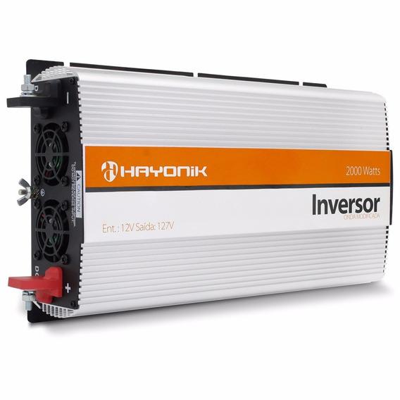 Inversor 2000w Conversor 12v Para 110v 127v - Hayonik