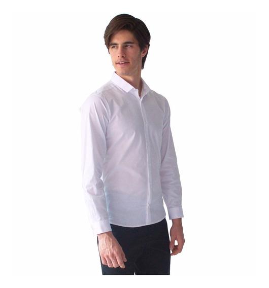 Camisa Blanca Casual Hombre Básico Cuello Rack & Pack