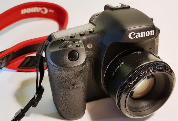 Câmera Canon 7d C/50mm Caixa, Grip Com Só 1.550 Cliks