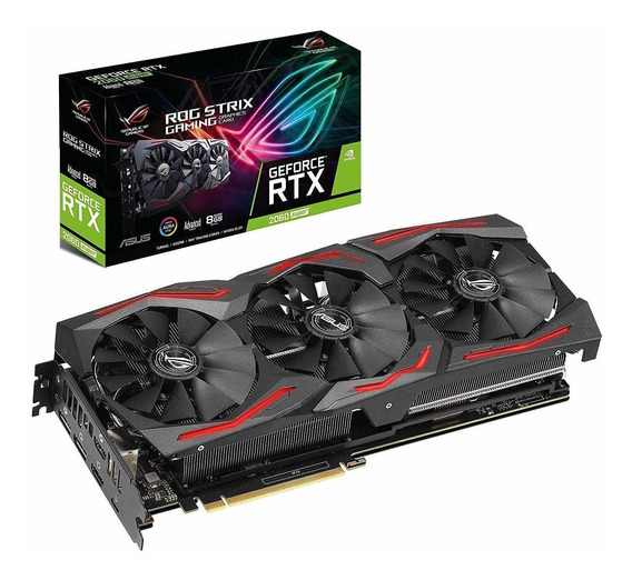 Placa de video Nvidia Asus GeForce RTX 20 Series RTX 2060 SUPER ROG-STRIX-RTX2060S-A8G-GAMING Advanced Edition 8GB