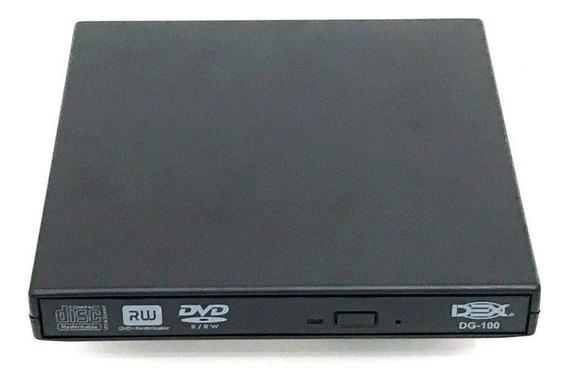 Drive Externo Slim Usb Gravador Leitor Cd E Dvd Netbook