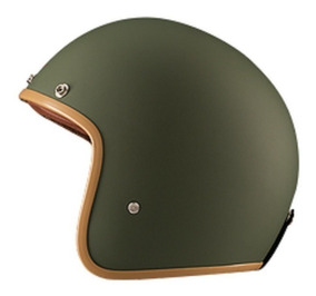 Capacete Lucca Custom Old School Matt Green Com2 Viseiras
