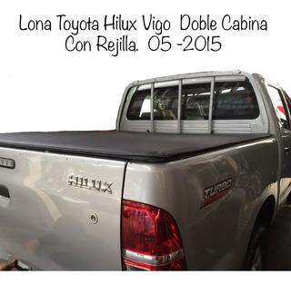 Lona Toyota Hilux Vigo Doble Cabina Con Rejilla. 05 -2015
