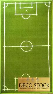 Alfombra Carpeta Infantil Cancha De Futbol 1,00 X 1,40 M M2