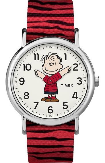 Relógio Timex Linus - Charlie Brown Tw2r41100 Novo Na Caixa