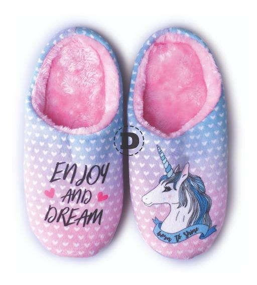 Pantuflas Abrigo Mujer Sweet Dreams Calzado Caballito Corazo