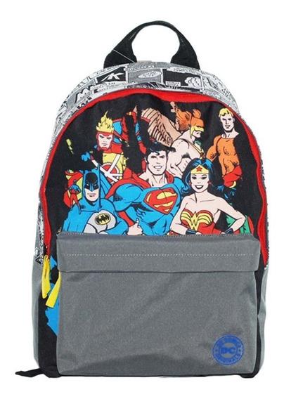 Mochila Escolar Liga Da Justiça Heróis Dc Comics Costas G