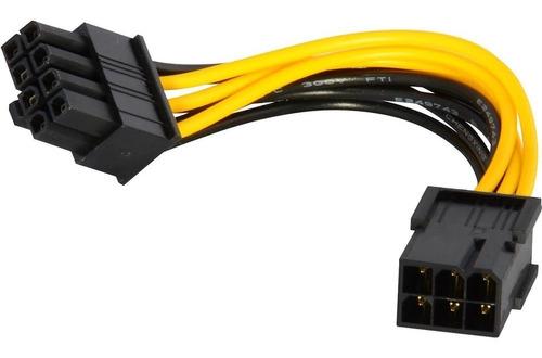 Imagen 1 de 2 de Cable Adaptador Pci-e 6 Pin Hembra A 8 Pin Macho Cpu Mother