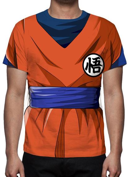 Camiseta Dragon Ball Super Traje Goku - Estampa Total