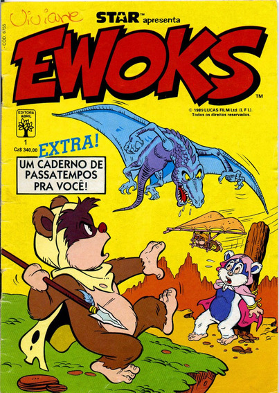 Ewoks Número 1 - Editora Abril - Fevereiro De 1989 Star Wars