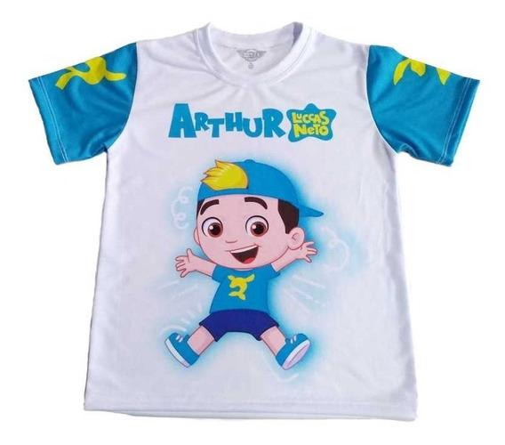 Camiseta Infantil Luccas Neto Boneco Personalizada